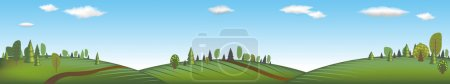 Illustration for Banner With Landscape, Vector Illustration - Royalty Free Image