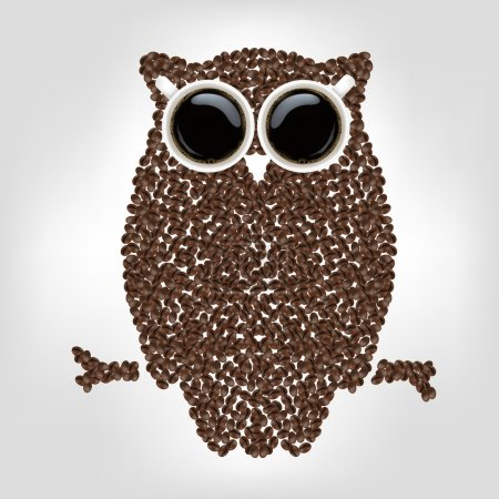 Owl From Coffee