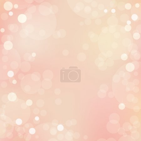 Illustration for Abstract Beautiful Vector Background With Bokeh - Royalty Free Image