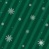 Green Background With Snowflakes With New Year's Sphere And Stars Vector Illustration
