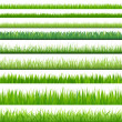 9 Backgrounds Of Green Grass, Isolated On White Ba...