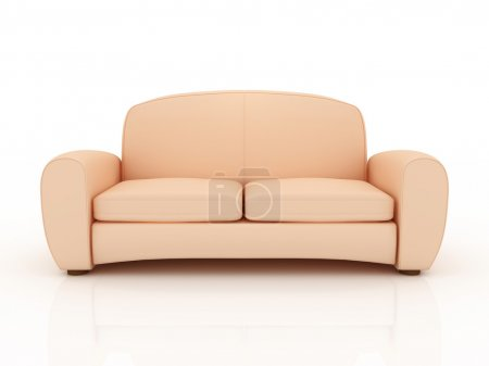 Beige sofa isolated on a white background