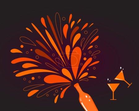 Valentine's day celebration: Romance red wine with splash