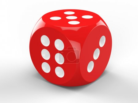 3D rendering of red dice
