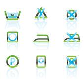 Prádlo péče a tkaniny symboly a ikony