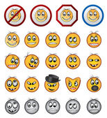 Different kinds of Smiling faces icons - vector icon set