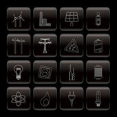 Electricity power and energy icons