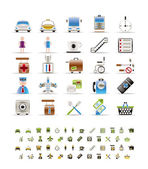 Airport travel and transportation icons