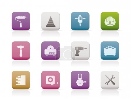 Illustration for Building and Construction Tools icons - Vector Icon Set - Royalty Free Image