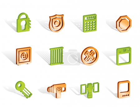 Security and Business icons - vector icon set...