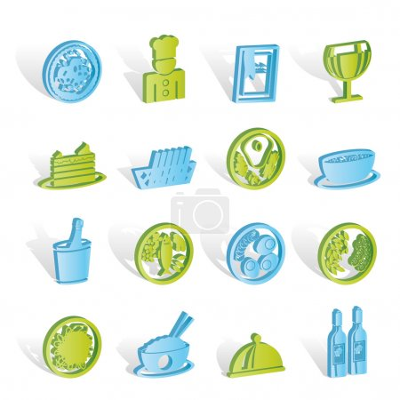Restaurant, food and drink icons
