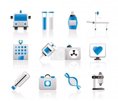 Photo pour Icônes de médecine et de soins de santé - ensemble d'icônes vectorielles - image libre de droit