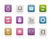 Travel Holiday and Trip Icons