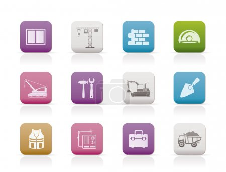 Illustration for Building and construction icons - vector icon set - Royalty Free Image