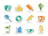 Sladké potraviny a cukrářské ikony