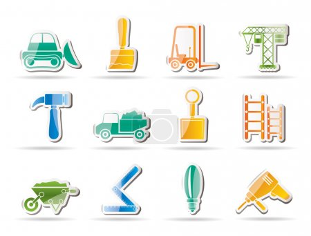 Illustration for Building and Construction equipment icons - Vector Icon Set - Royalty Free Image