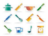 Vaření ikony zařízení a nástroje