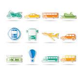 Cestování a doprava ikon