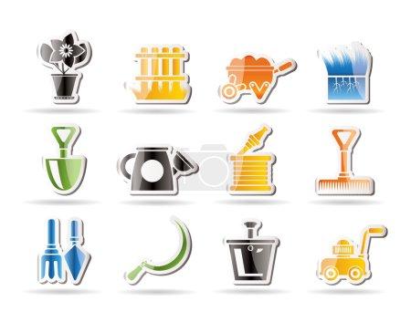 ikony Narzędzia ogrodowe i ogrodnictwo