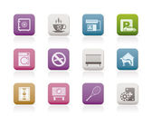 Hotel and motel amenity icons - vector icon set