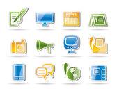 Sociální media ikony a komunikační kanály
