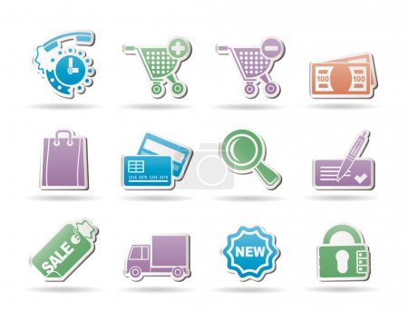 Internet icons for online shop