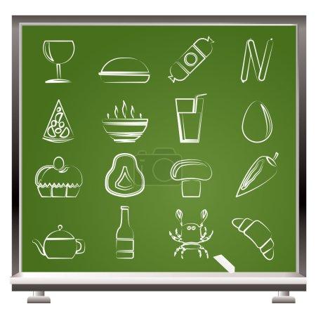 Photo pour Boutique, aliments et boissons icônes - ensemble d'icônes vectorielles 2 - image libre de droit