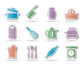 Ikony nádobí kuchyň a domácnost