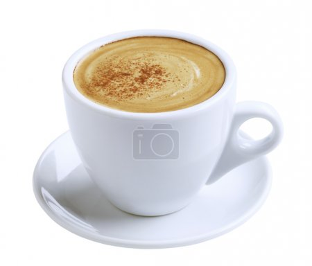 Photo for Cup of coffee with froth and cinnamon - Royalty Free Image