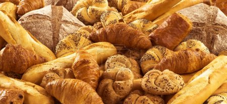 Photo for Variety of fresh bread and pastry - Royalty Free Image