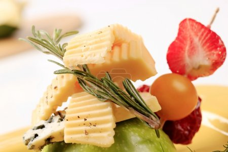 Cheese and fruit appetizer