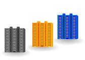 Vector illustration multi-storey houses