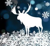Deer Christmas vector background