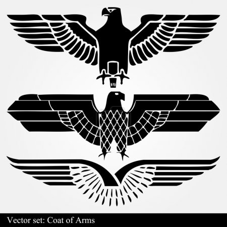 Illustration for Eagle coat of arms heraldic for poster - Royalty Free Image
