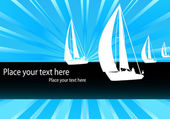 Yacht - sailing boat vector background