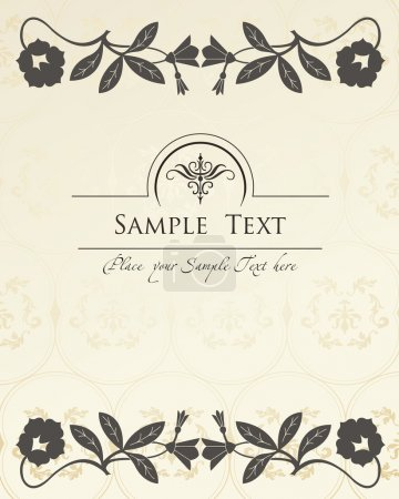 Vintage elements for frame or book cover, card