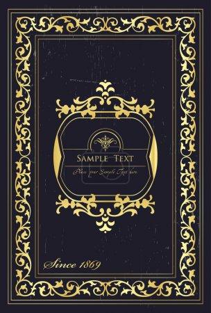 Ilustración de Elementos vintage para la cubierta de marco o libro, tarjeta, cartel - Imagen libre de derechos