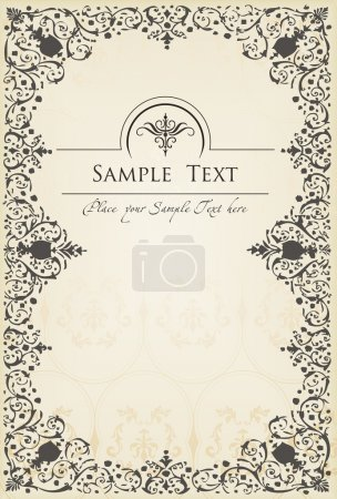 Photo for Abstract vintage frame and elements background vector - Royalty Free Image