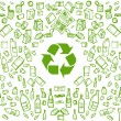 Recycling eco vector background...