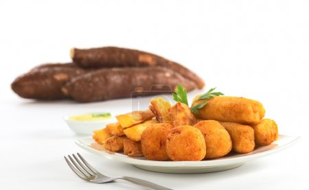 Fried Snacks out of Manioc