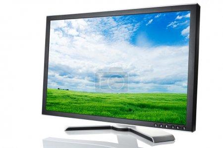 Black monitor white