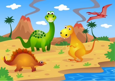 Dinosaurs cartoon
