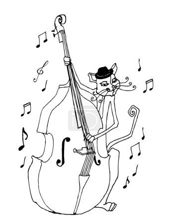 Cute musician cat