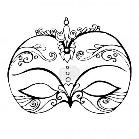 Illustrated abstract mask for your carnival design