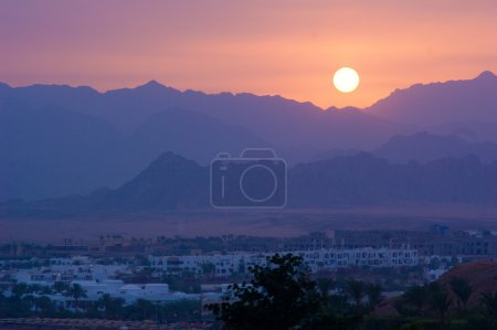Sunset in Sinai Mountains, Egypt
