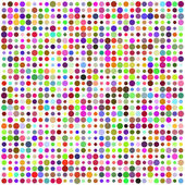 Retro circle multicolored abstract pattern