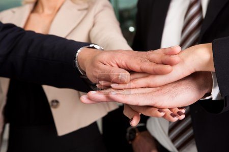 Photo for Business handshake over the deal. Close-up shot - Royalty Free Image
