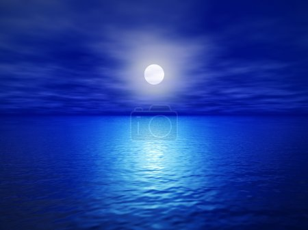 Photo for Full moon (3d render image) - Royalty Free Image