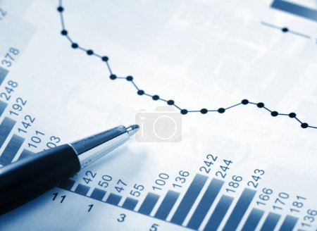 Photo for Financial chart - Royalty Free Image