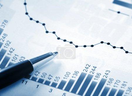 Photo pour Tableau financier - image libre de droit